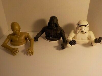 STAR WARS Promo Cup Topper figure lot C-3PO Stormtrooper Darth Vader