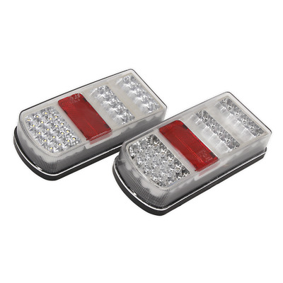 TB19LED Sealey Rear Rectangle Lamp Cluster (Pair) LED 12V [Towing Accessories]