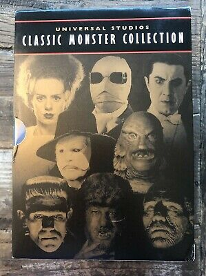 Universal Studios Classic Monster Collection (DVD, 2000, 8-Disc Set) LIKE NEW