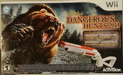 Cabela's Dangerous Hunts 2013 (BRAND NEW Nintendo Wii, 2012) FREE SHIPPING !!