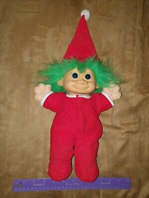 Russ troll doll-large- Christmas elf Santa sitter/sitting plush stuffed