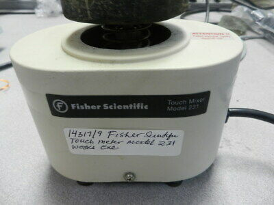 Fisher Scientific Model 231 Touch Mixer In Excellent Working Cond 14319/8