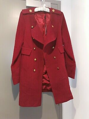 New women's coat Size 12 dark red