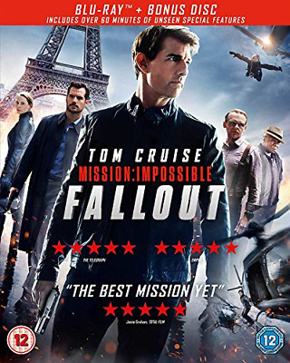 Mission: Impossible - Fallout (Blu-ray + Bonus Disc) [2018] [Region Free], Very
