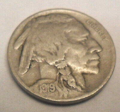 """1919 P Indian Head """"Buffalo"""" Nickel  *Ag Or Better*   **Free Shipping**"""