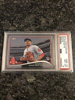 2014 Topps Chrome Update #MB-46  Mookie Betts PSA 8 BOSTON RED SOX