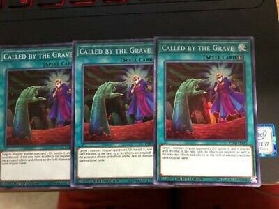 3x Yugioh Called by the Grave EXFO-ENSE2 Super Rare Limited Edition