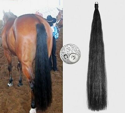 "DOUBLE BLACK Genuine OZ Horse False Tail 80CM 32"" False Horse Tail EXTENDED"