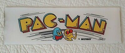 Midway Bally PAC-MAN * 1980 * Vintage Marquee Header Sign Collectible Arcade
