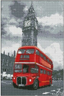 Bus. 14CT Counted Cross Stitch Kit. Craft Brand New.