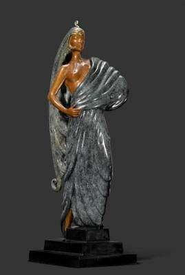 "Erte ""Beauty And The Beast"" Bronce Escultura Firmado y Numerada Ret"