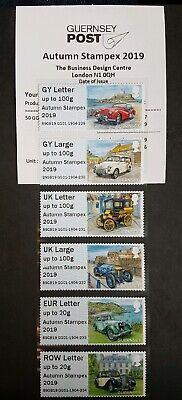 Autumn Stampex 2019 - Gg01 - 'Guernsey Old Car Club' Collector/Local Strips