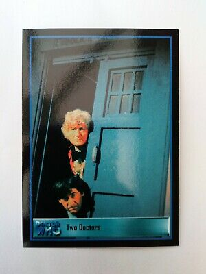 """Dr who """"Two Doctors"""" B2 Definitive Series 3 Promo Card 2001 NM"""