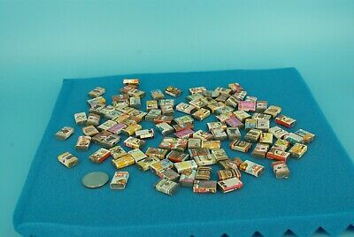 Dollhouse Miniatures  Food Beverage Box Can Kitchen Grocery Pantry Lot of 180