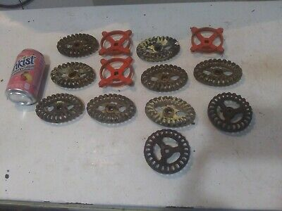Lot Of 13 VTNG Large Spigot Faucet Knobs Valve Handles Industrial Steampunk Art