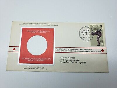 """1975 Montreal Olympic First Day Cover  Limited Edition Proof   """"Diver"""""""