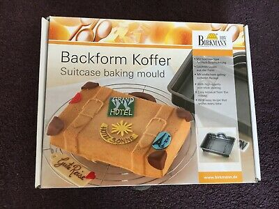 RBV Birkmann Suitcase Baking Mould Metal Non Stick Cake Tin (new other)