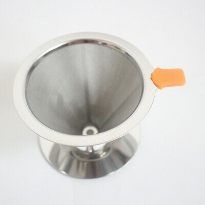 Stainless Steel Coffee Dripper Holder Paperless Reusable Pour Over Filter Cone
