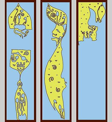 3 marque-pages outsider art - art brut - bookmarks