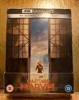 STEELBOOK Blu-ray 4K Captain Marvel  [ Zavvi  ] Titre Tranche- MARVEL