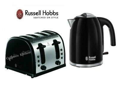 Russell Hobbs Kettle and Toaster Set Colours Kettle and Legacy Toaster - Black