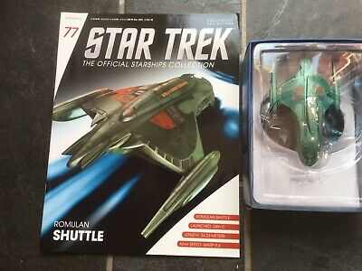 Star Trek Eaglemoss #77 Romulan Shuttle With Magazine