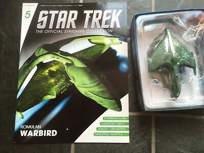 Star Trek Eaglemoss #5 Romulan Warbird With Magazine