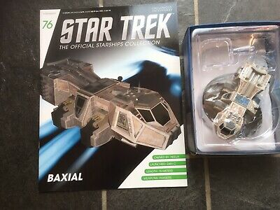Star Trek Eaglemoss #76 Neelix's Shuttle Baxial With Magazine