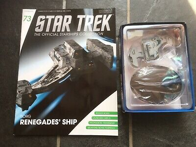 Star Trek Eaglemoss #73 Borg Renegades' Ship With Magazine