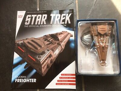 Star Trek Eaglemoss #101 Bajoran Freighter With Magazine
