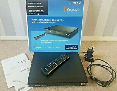 Humax HDR-1800T 320GB Freeview + HD TV Recorder 200 Hours Subscription Fee Boxed