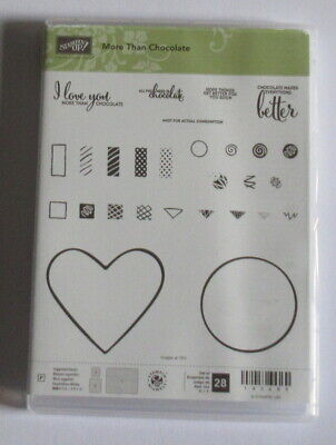 Stampin Up Photopolymer Clear Stamp Set - More than Chocolate - New.