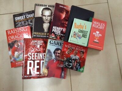 Job Lot 10 Rugby Union Books - Wales, England, France, Lions - Autobiography Etc