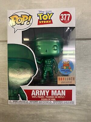 Funko Pop! Disney Toy Story Metallic Green Army Man #377 BoxLunch Exclusive