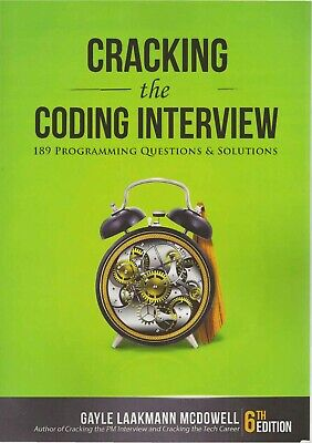 Cracking the Coding Interview: 189 Programming Questions and Solutions 6th Edtn.