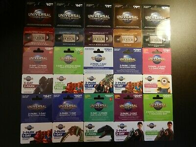 Lot Of Thirty-Two (32) All Different Collectible Only *Universal* Gift Cards