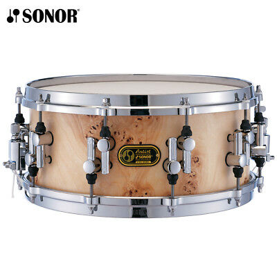"""NEW Sonor Artist Series 14"""" x 6"""" Cotton Wood Maple Chrome Plated Snare Drum"""