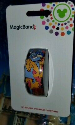 NEW Disney Parks Vacation Genie from Aladdin Magic Band 2 LINK IT LATER