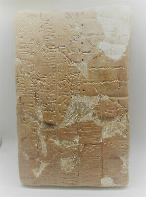 Huge Ancient Near Eastern Terracotta Tablet With Early Form Of Writing (Restored