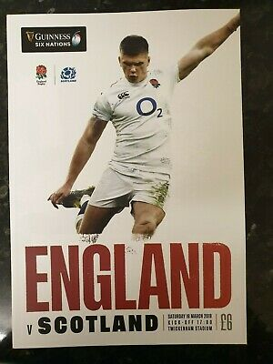 2019 England Vs Scotland Programme: Six Nations: Rugby Union