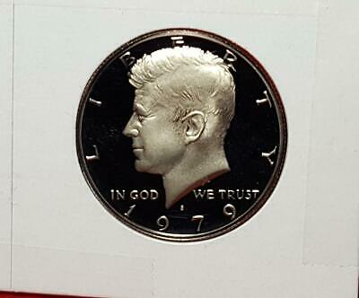 "1979-S  (Type Ii)  ""Ultra Deep"" Cameo Proof Kennedy Half Satisfaction Guaranteed"