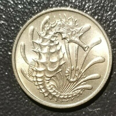 Singapore 1967 - 10 Cents Copper-Nickel Coin - Stylized Spotted Seahorse