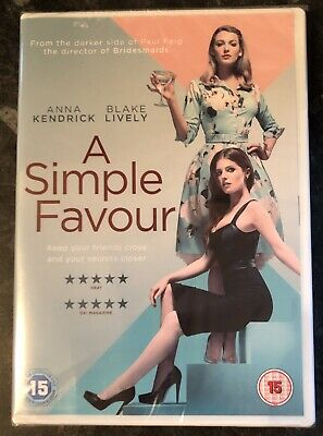 A Simple Favour Dvd 2019 (Anna Kendrick-Blake Lively) Brand New & Sealed Mint