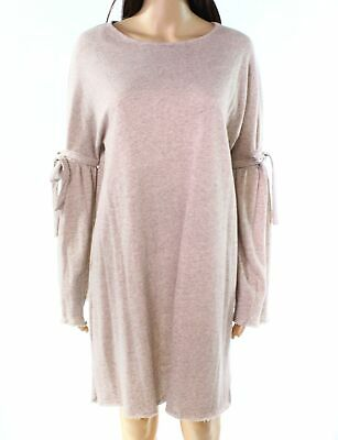 Fashion on Earth Dress Taupe Beige Womens Size Medium M Shift Knit $48 544