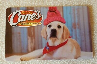 RAISING CANE'S CHICKEN FINGERS Gift Card (No $ Value) Christmas 2018