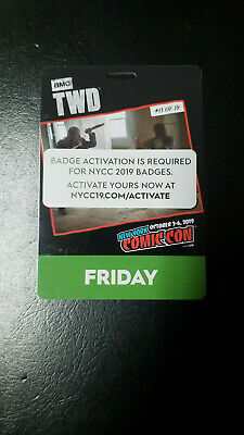 NYCC 2019 Friday Badge New York Comic Con Verified and ACTIVATED ticket Oct 4