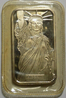 Johnson Matthey MTB Statue of Liberty 1982 1 oz .999 fine silver bar sealed