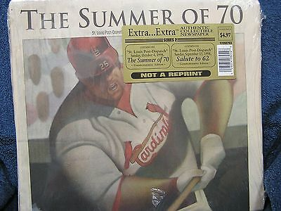 Mark McGwire St. Louis Post Dispatch, Sealed Commemorative Edition Newspaper 199