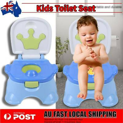 3 in 1 Safety Kid Children Baby Toddler Toilet Training Potty Trainer Seat Chair