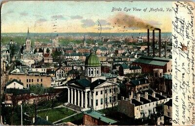 1907. Birds Eye View Of Norfolk, Va. Postcard Upa4